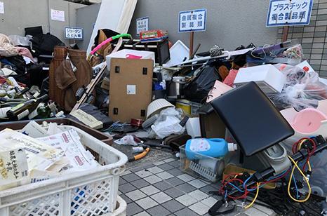 粗大ゴミの種類について 説明イメージ(ゴミ回収場 イメージPHOTO)