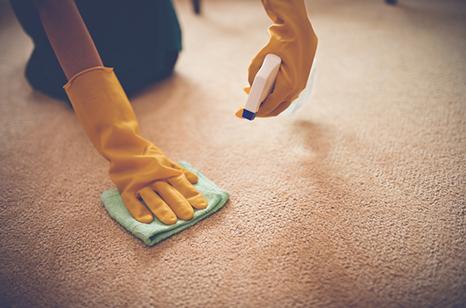 クリーニング、清掃業に関して 説明イメージ(清掃作業の図)