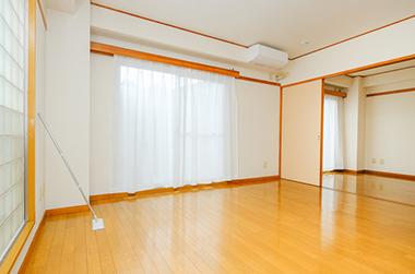 遺品整理後、お部屋のクリーニングも 説明イメージ(きれいな部屋 イメージPHOTO)