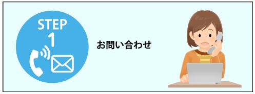回収までの流れ STEP1 問い合わせ(イメージイラスト)